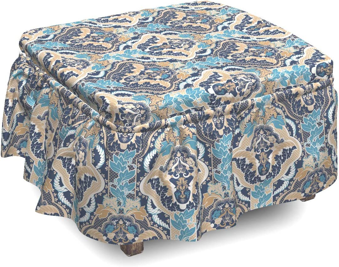 Ambesonne Asian Ottoman Cover South Design 2 Sli Eastern Max Shipping included 75% OFF Piece