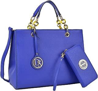 Womens Large Top Handle Handbag Structured Tote Satchel Purse Shoulder Bag w/Matching Wallet