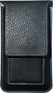 axelens Funda Tipo sobre Universal para iPhone Samsung Huawei Xiaomi Nokia De Cuero Sintètico para Smartphone hasta 6.1'' Pulgadas - Negro - Tamaño XL