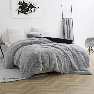 Byourbed Coma Inducer Queen Duvet Cover - are You Kidding - Glacier Gray/Black