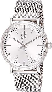 ساعة كالفن كلاين سيراوند للرجال مينا فضي وسوار ستانلس ستيل - K3W21126