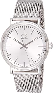 Calvin Klein Surround Men'S Silver Dial Stainless Steel Band Watch - K3W21126,