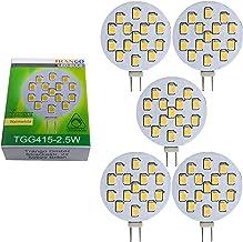 Trango Set van 5 G4 LED-lampen TGG415-2.5W - 12V AC/DC - 2,5 Watt 250 lumen met 3000K Power SMDs warmwit voor vervanging v...