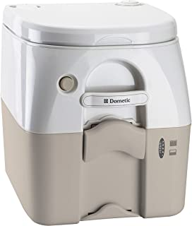 Dometic 5 Gallon 301097602 970 Series Portable Toilet-5.0 Gallon, Tan