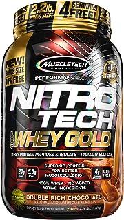 Protein Powder | MuscleTech Nitro-Tech Whey Gold | Whey Protein Powder | Whey Protein Isolate + Peptides | Protein Powder ...