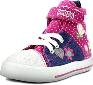 Peppa Pig Denim and Pink Toddler High Top Sneakers