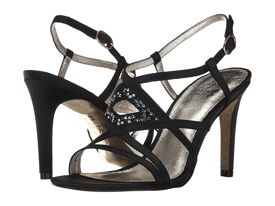 Image of Adrianna Papell Ace (Black Satin) Women's Shoes