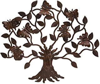 NOVICA 266304 Butterfly Tree' Iron Wall Decor