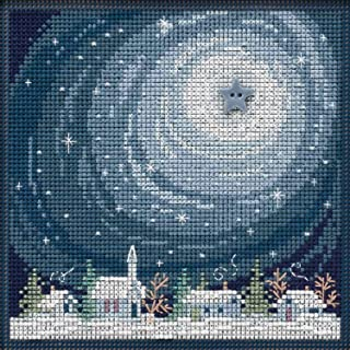Winter Glow Beaded Counted Cross Stitch Kit Mill Hill Buttons & Beads 2019 Winter Series MH141933