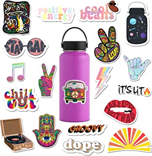 RipDesigns - 14 Groovy Stickers for Water Bottles, Laptops (Series 4)