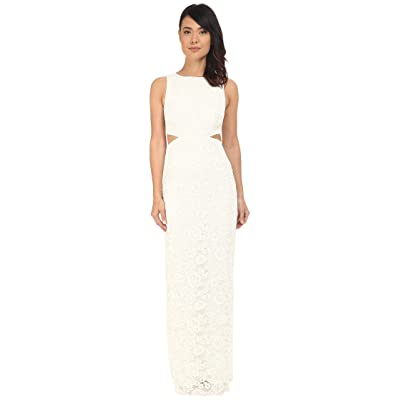 Nicole Miller Corded Lace Queen of the Night Gown (White) Women