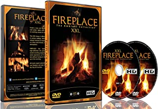 Fireplace DVD - Fireplace XXL - Filmed in HD - 2 DVD Set with Double Extra Long Fires with Burning Wood Sounds