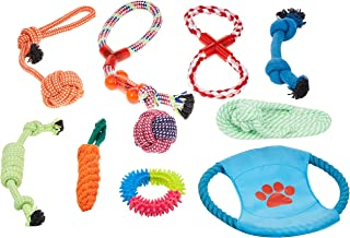 Mumoo Bear Dog Rope Toys 10 Pack Pet Toy Set Pet Puppy Teething Chew Rope Tug Assortment for Small Medium Large Dogs Breeds