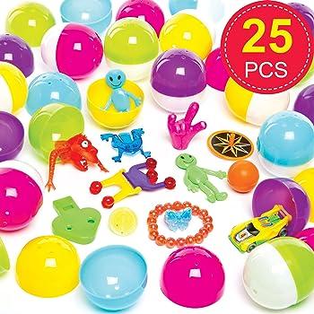 YoungRich 48 Pezzi Uova di Pasqua Kinder Brillanti Colori Assortiti in Plastica Uova di Pasqua di Cioccolato per Bambini Adulti Sorpresa di Riempimento Giocattoli Caramelle Gioco di Pasqua 4 6 cm