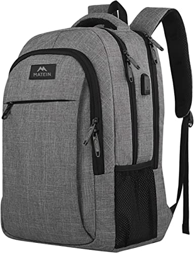 Travel Laptop Backpack,Business Anti Theft Slim Durable Laptops Backpack with USB Charging Port,Water Resistant College School Computer Bag for Women & Men Fits 15.6 Inch Laptop and Notebook - Grey product image
