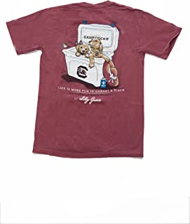 Lily Grace SS Carolina Gamecocks 2 Puppies T-shirt