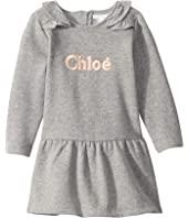 Chloe Kids - Dress w/ Tiny Ruffles and Logo (Toddler)