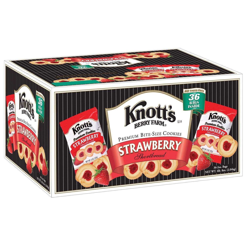 Knott S Berry Farm Strawberry Shortbread Cookies 36 Ct Amazon Com Grocery Gourmet Food