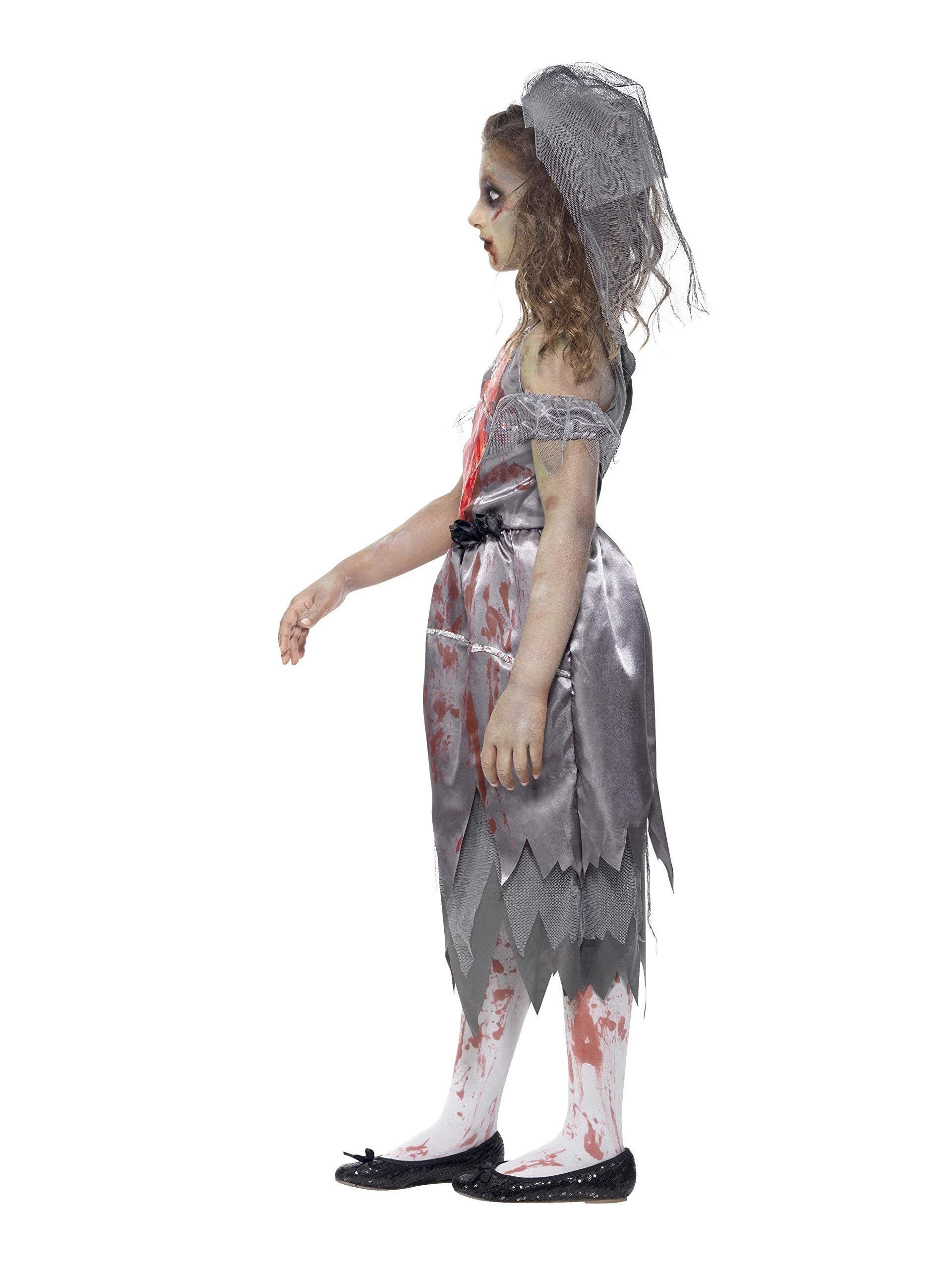 Smiffys Disfraz de Novia Zombi, Gris, con Vestido con Manchas de ...