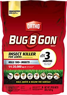 Ortho 0167335 Bug B Gon Insect Killer For Lawns, 20-Pound (Kills 100+ Insects for 3 Months Including Ants, Chinch Bugs, Fleas, and Ticks)