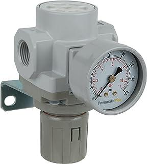 PneumaticPlus sar400 g04bg druckluft druckregler 1/2' bspp   halterung, gauge Grau