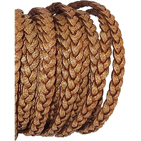 0.75 EURmeter 5 m goat leather strap leather cord Leather cord Cinnamon .5 mm soft shape resistant