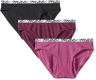 MAE Amazon Brand Women's Shine Logo Elastic Modal Bikini, 3