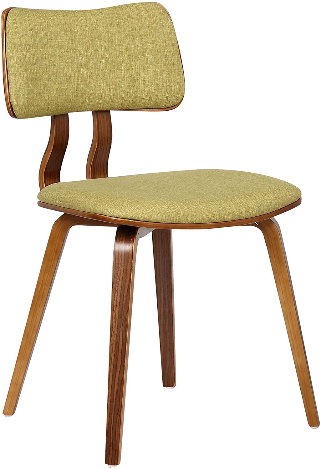 specialty shop Armen Surprise price Living Jaguar Dining Chair in Wood Fabric and Green Walnut