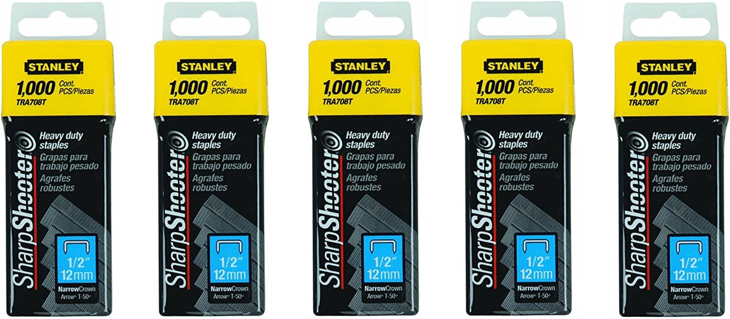12mm Stanley TRA7085T Heavy-Duty Staples Pack 5000