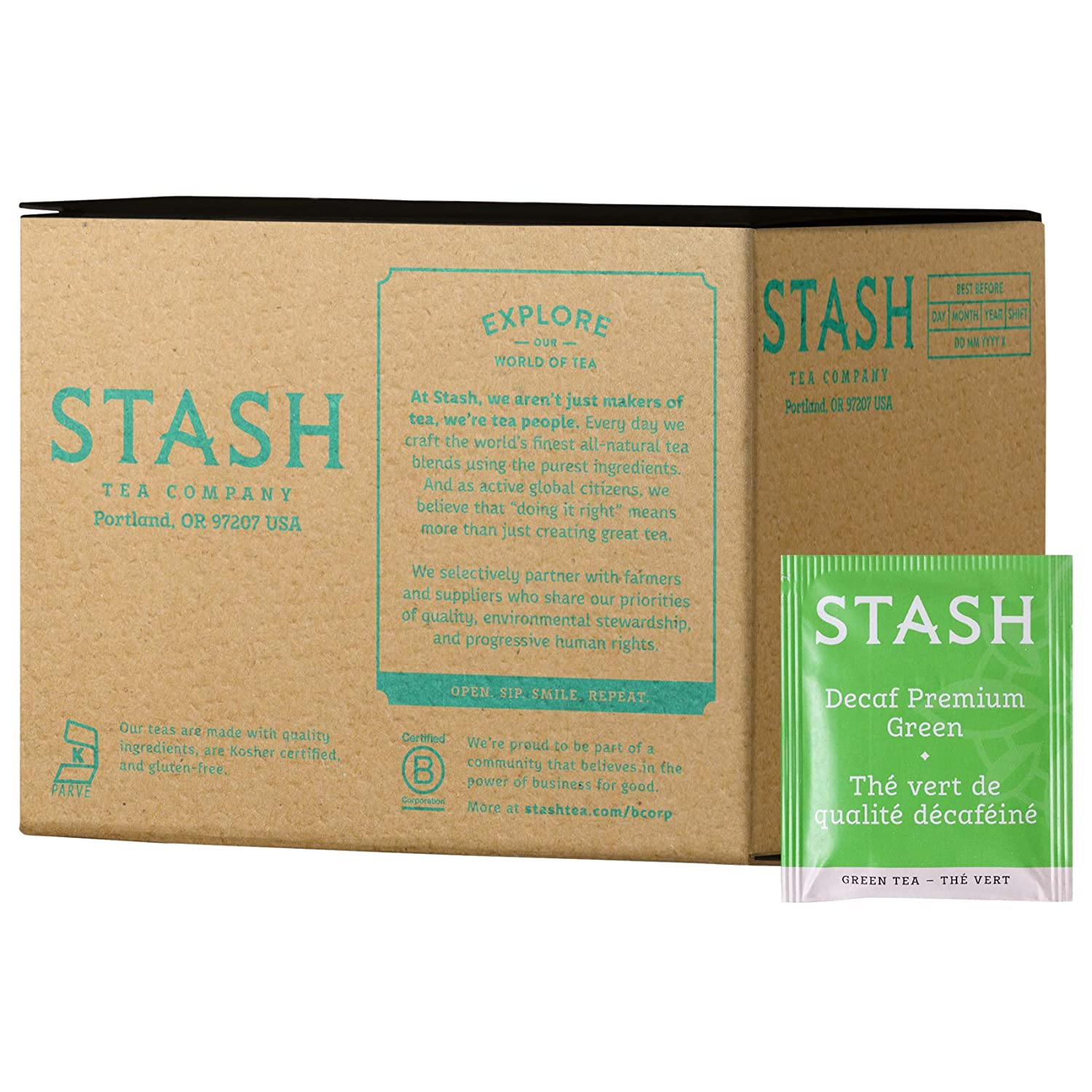 Ranking TOP2 Stash Tea Decaf Premium Green Box Bags Packagin 100 Outlet sale feature of