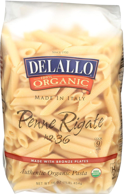 Delallo Bargain sale cheap Penne Rigate Organic Ounce 16