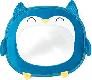 Diono Easy View Owl Character Baby Car Mirror, Safety Car Seat Mirror for Newborn Infant, Crystal Clear View with Shatterp...