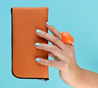 Arancione custodia in pelle per iPhone 11 Pro Max