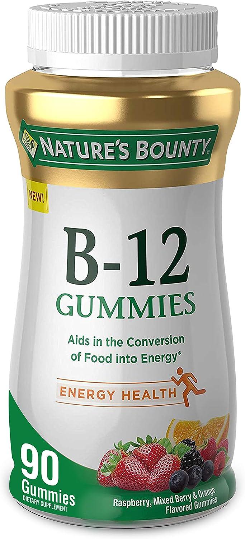 Ranking TOP17 Nature's Bounty Nature's Vitamin Gummies Fruit Max 87% OFF 500mcg Flavo