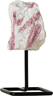 Beverly Oaks Pink Tourmaline Crystal Home Decor - Crystal Decor Healing Crystals on Metal Stand - Healing Stones for Emotional Healing