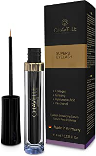 Eyelash Growth Serum Made in Germany - Natural Highly Effective Enhancer and Booster for Longer Eyelashes and Thicker Eyebrows I 0.135 Fl.Oz Superb Eyelash