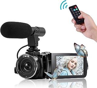 ビデオカメラ デジタルビデオカメラ 1080P 24MP WIFI機能 16倍デジタルズーム IR夜視機能 外部マイク付き YouTube用