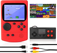 KIDWILL Handheld Game Console, 800mAh Battery Powered Portable Mini Game Player with 500 Retro FC Games, 3.0 Inch Color Sc...