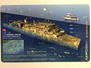 Innovative Scuba Concepts New Art to Media Underwater Waterproof 3D Dive Site Map - Spiegel Groove in Key Largo, Florida (8.5 x 5.5 Inches) (21.6 x 15cm)