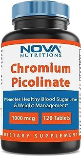 Nova Nutritions Chromium Picolinate 1000mcg 120 Tablets - Chromium promotes healthy glucose metabolism