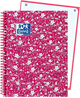 Oxford 400088001 - Cuaderno espiral, A5, color floral