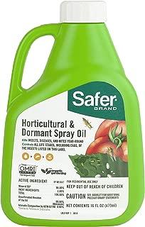 Safer 5192-6 Brand 16 oz Horticultural & Dormant Spray Oil Concentrate, Green
