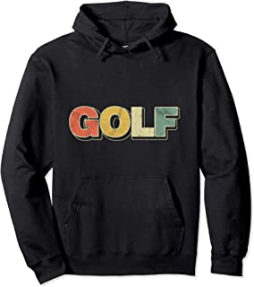Golf Retro Typography Golfer Outdoor Sport Golfing Pullover Hoodie
