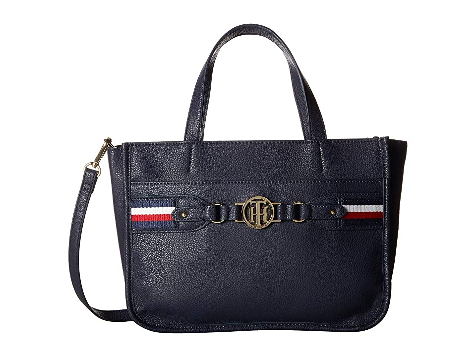Tommy Hilfiger Brice Shopper (Tommy Navy) Tote Handbags