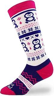 Ski Socks Youth, Toddler, Boys, Girls - Kids Snowboard Sock, Warm Wool Winter