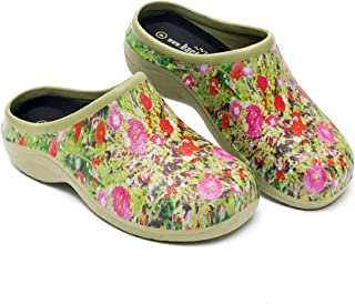 Backdoorshoes Waterproof Premium Garden Shoes with Arch Support-Poppy Design