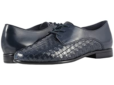 Trotters Lizzie (Navy Woven/Smooth Leather) Women