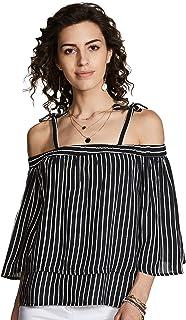 Amazon Brand - Inkast Denim Co. Women's Striped Loose fit Shirt