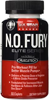 Six Star Elite Series Pre-Workout N O Fury 60 Caplets