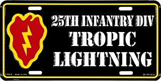 U.S. Army 25th Infantry Division License Plate